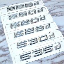 Bmw 5 シリーズ E39 E60 E61 F10 F11 新 520d 525d 528d 530d 535d 550d リアブートトランクリッドトリムカバー手紙バッジエンブレム
