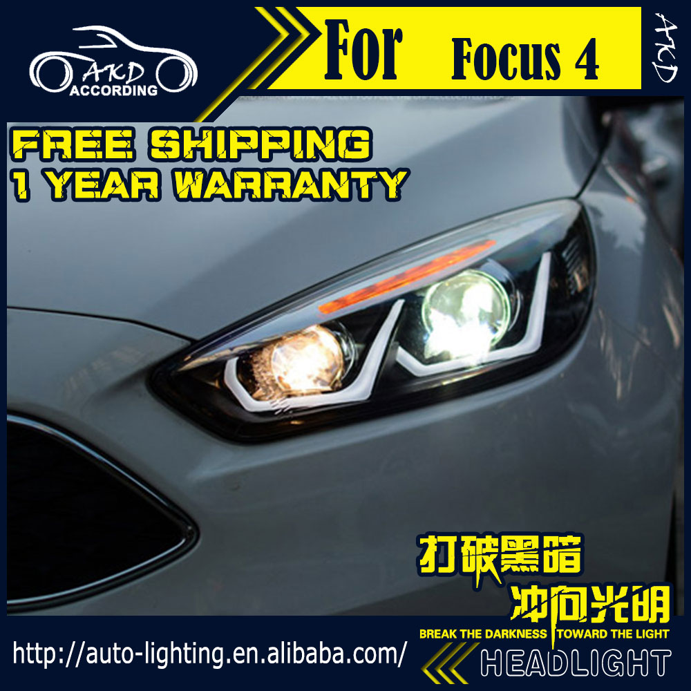 Akd car styling head lamp for ford focus led headlight 2015 2016 new focus 4