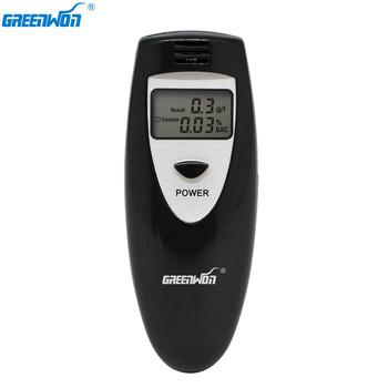 GREENWON alkomat alkomat wykrywacz alkoholu tester alkoholu tanie i dobre opinie ABT-0013-6387 Black Grey ( BAC g L) 0 000 -0 199 BAC (0 00-1 99g l) Three Digit Digital Display 2*AAA battery CE RoHS