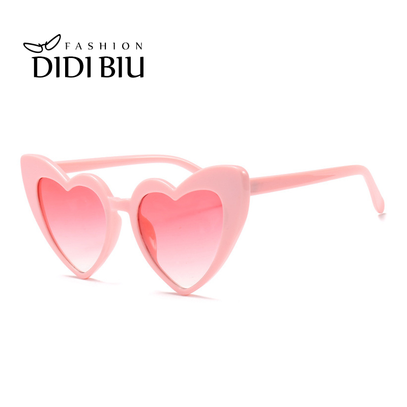 Photochromic Rainbow Coating Sunglass Girls Womens Beach Colorful Summer Sunglasses Peach Love Heart Shaped Sun Glasses Discounts Sale Women's Sunglasses