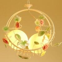 Originality flower pendant lamp Restaurant Children Room Princess Girl Bedroom Pendant Light Bird's Nest wl329922