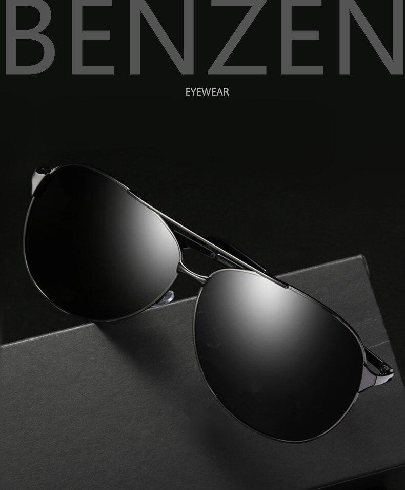 3109462750d77 BENZEN Polarized Sunglasses Men Vintage Pilot Male Sun Glasses Classic  Pilot Driving Glasses Black With Case 9031