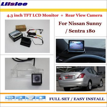 Auto Camera For Nissan Sunny Sentra 180 Car 4.3 TFT LCD Screen Monitor Back Up Parking System image