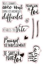French words Transparent Clear Silicone Stamp/Seal for DIY scrapbooking/photo album Decorative clear stamp sheets A876