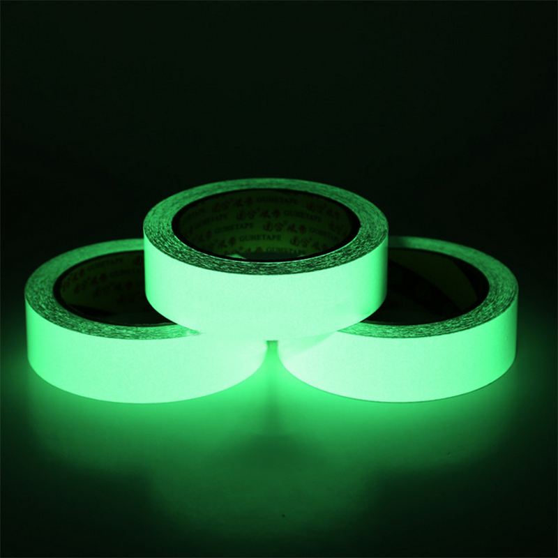 3M Green 10/15/20mm Luminous Tape Glow In The Dark Self-adhesive Warning Security  Tape Glowable Tape