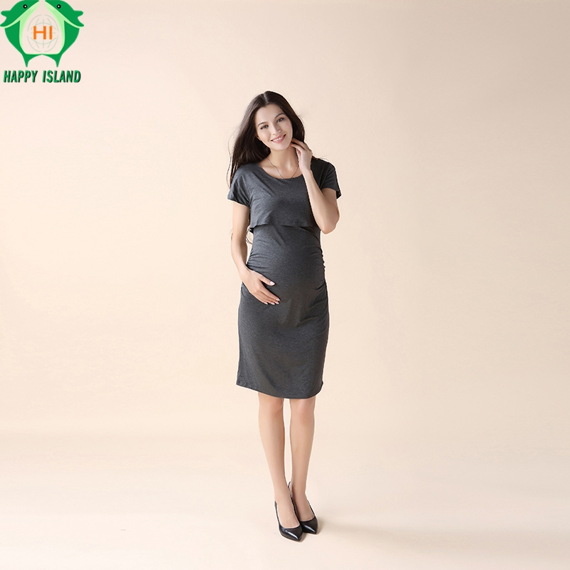bb8854ffb2ca1 Elastic Tencel Summer Elegant Office Lady Vestidos Loose Maternity Dresses  Pregnancy Clothes Nursing Dress for Pregnant Women-in Dresses from Mother &  Kids ...
