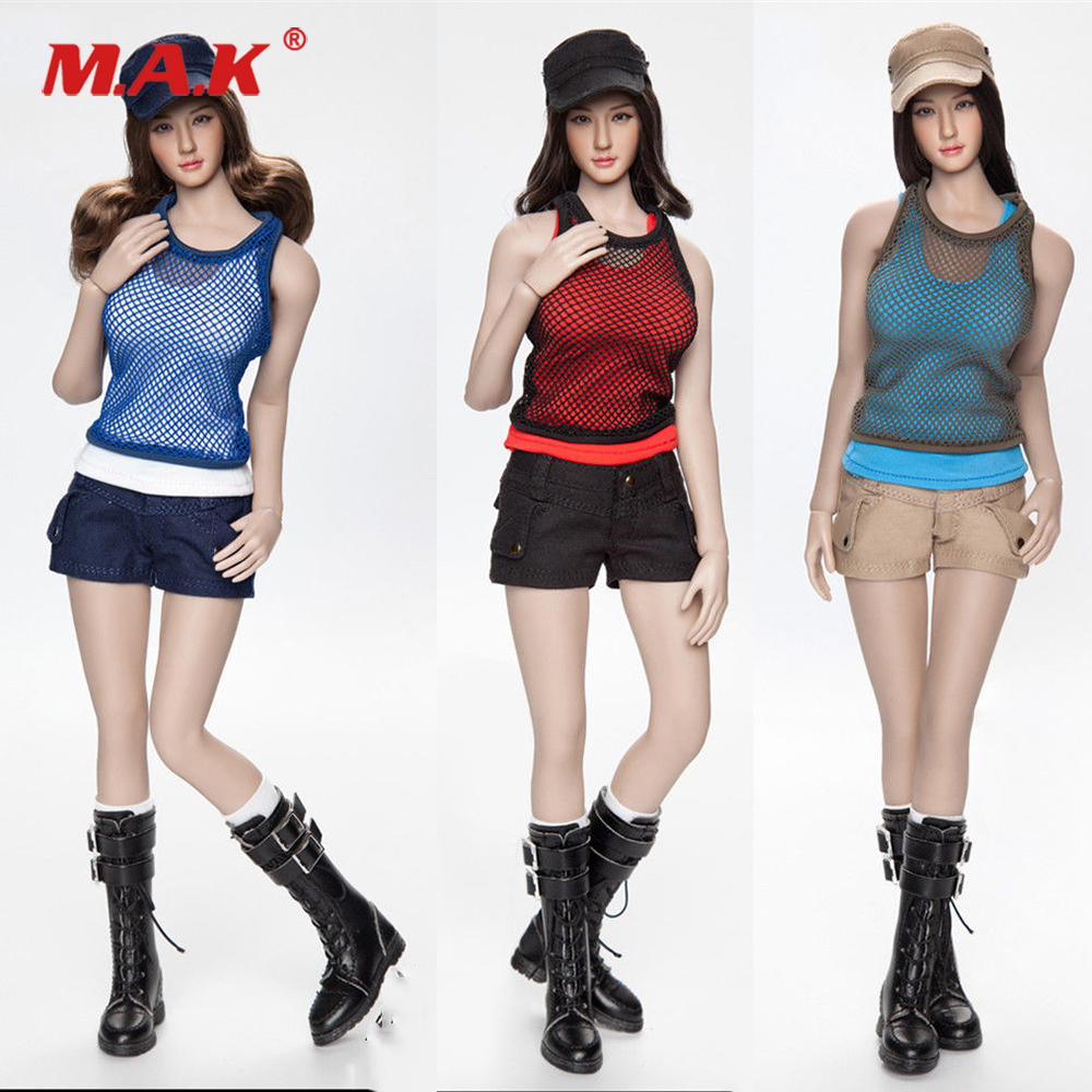 1/6 Scale Female Clothes Set FGC2017 Girl Combat Short Fashion Short Clothing & Shoes Set Accessory for 12'' Action Figure Doll fgc2017 39 40 41 1 6 scale sexy female clothes roller girl head and clothing set for 12 ph doll action figure