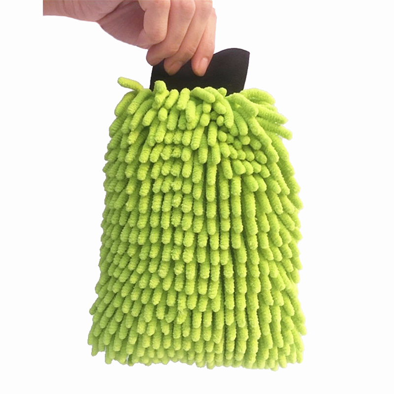 Double Side 28x20cm Large High Density Microfiber Chenille Glove Dusting Glove For Car Wash,Kitchen,Bathroom Cleaning