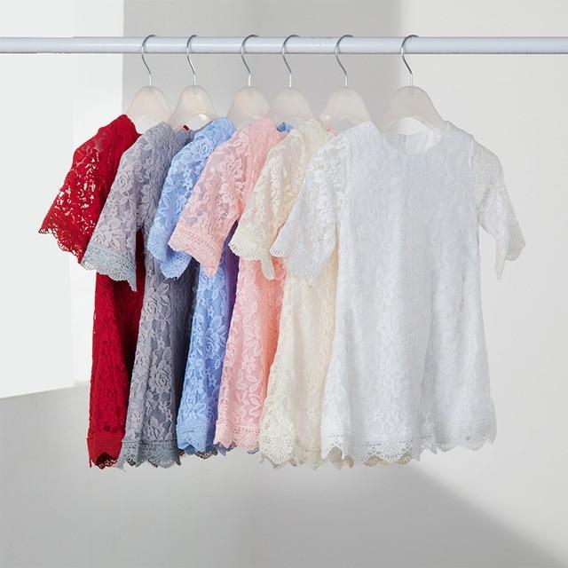 Caliente la ropa de la familia juego de madre e hija vestidos familia familiar mirada ropa para la madre e hija de encaje de algodón delgado vestido