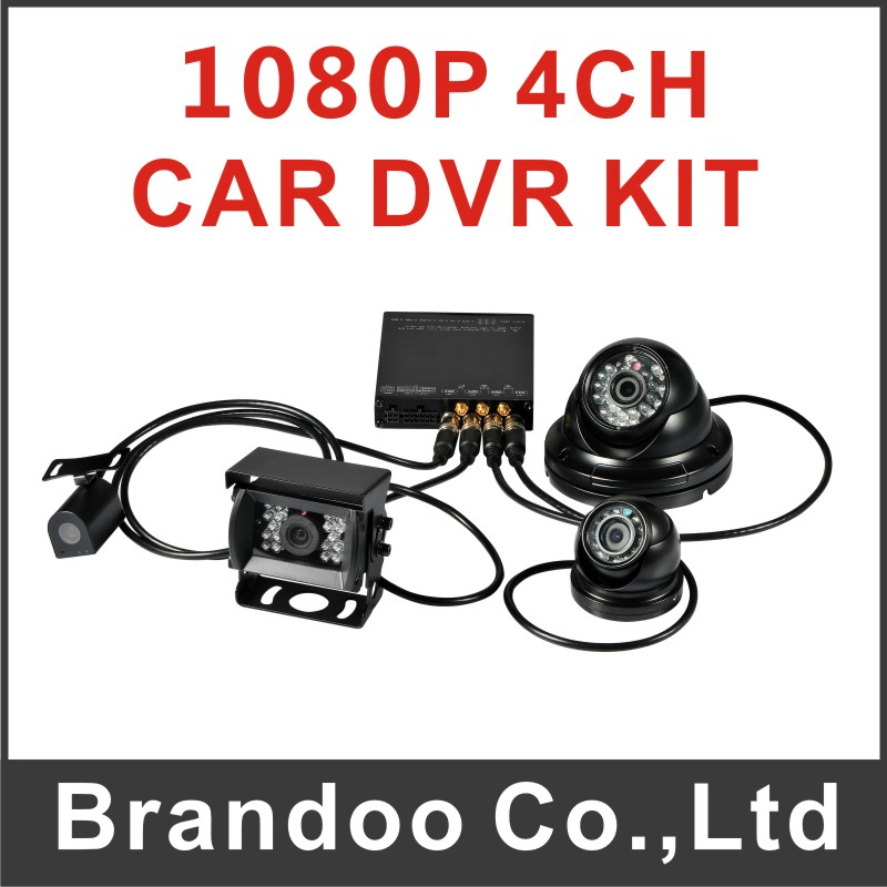 4 Channel 1080P H.264 Mobile DVR Car DVR Recorder for tank,van,taxi,shuttle bus,school bus used from Brandoo
