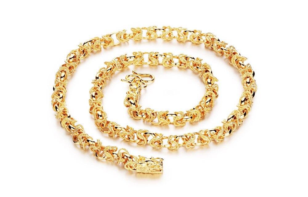 Новая мода Личность Китай талисман подарок властная золотым напылением ожерелья для человек KXK445