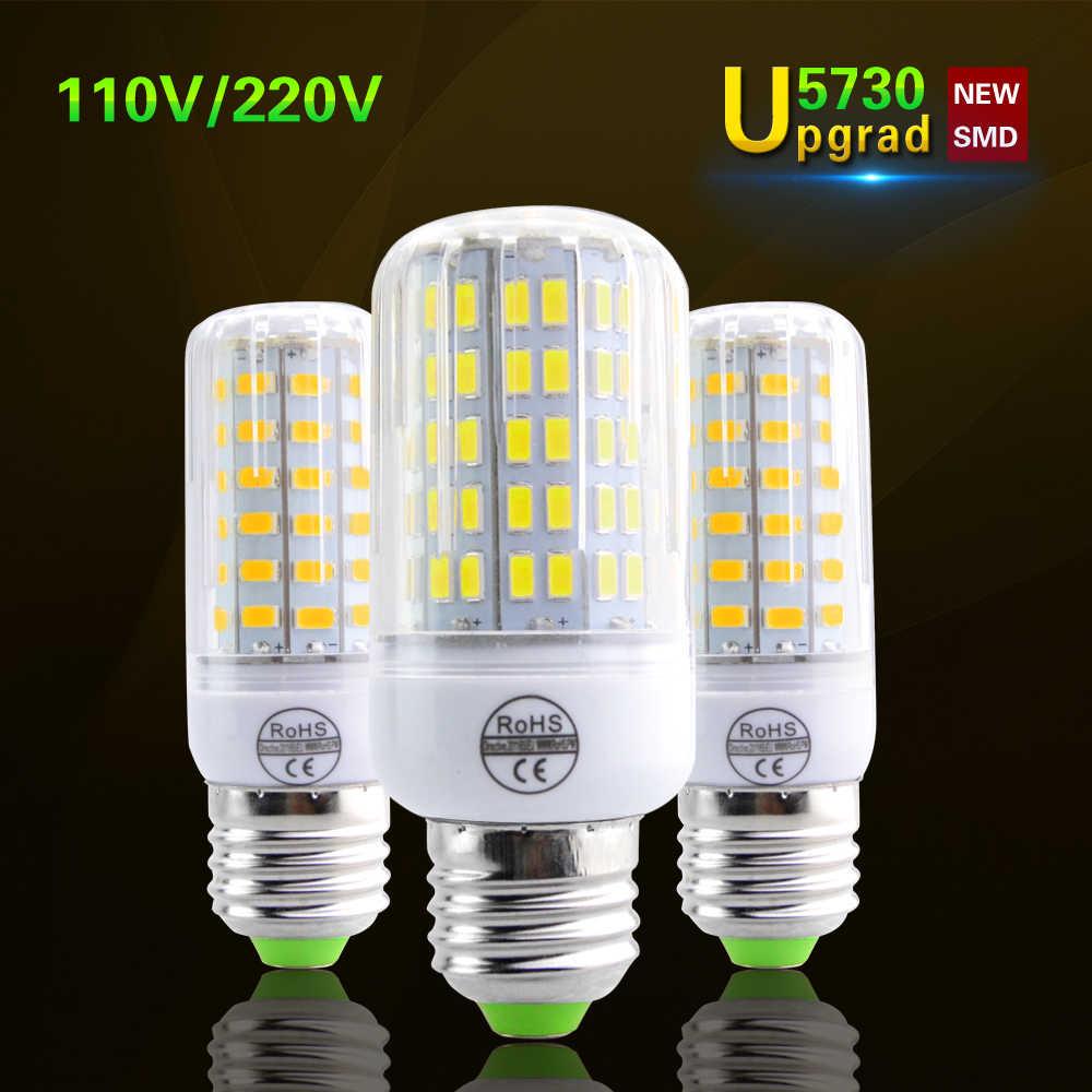 Lamparas SMD5730 ярче , чем 5736 из светодиодов кукуруза лампа E27 220 В 110 В из светодиодов лампы пятно лус ампулы из светодиодов заменить 20 - 120 Вт накаливания