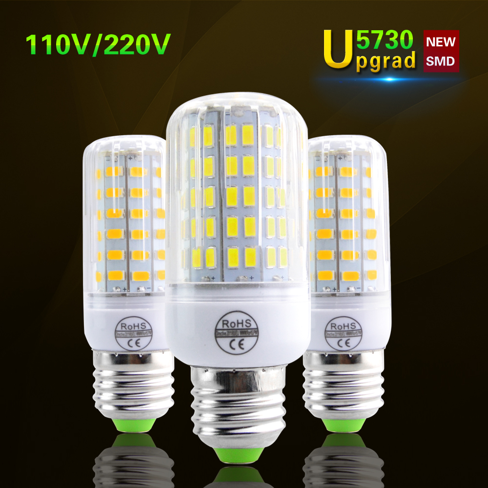 lamparas smd5730 brighter than 5736 led corn lamp e27 220v 110v led bulb spot luz ampoule led. Black Bedroom Furniture Sets. Home Design Ideas
