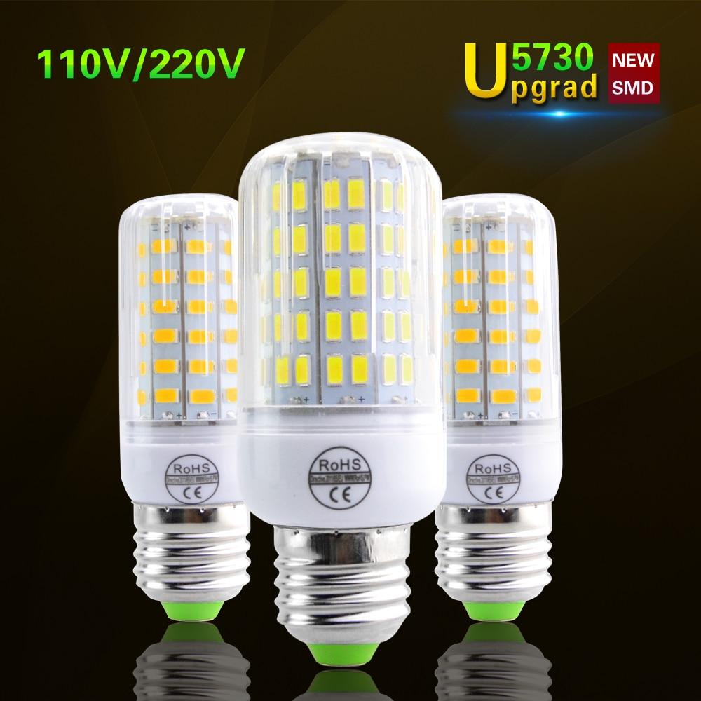 Lamparas smd5730 brighter than 5736 led corn lamp e27 220v for Ampoule led jardin