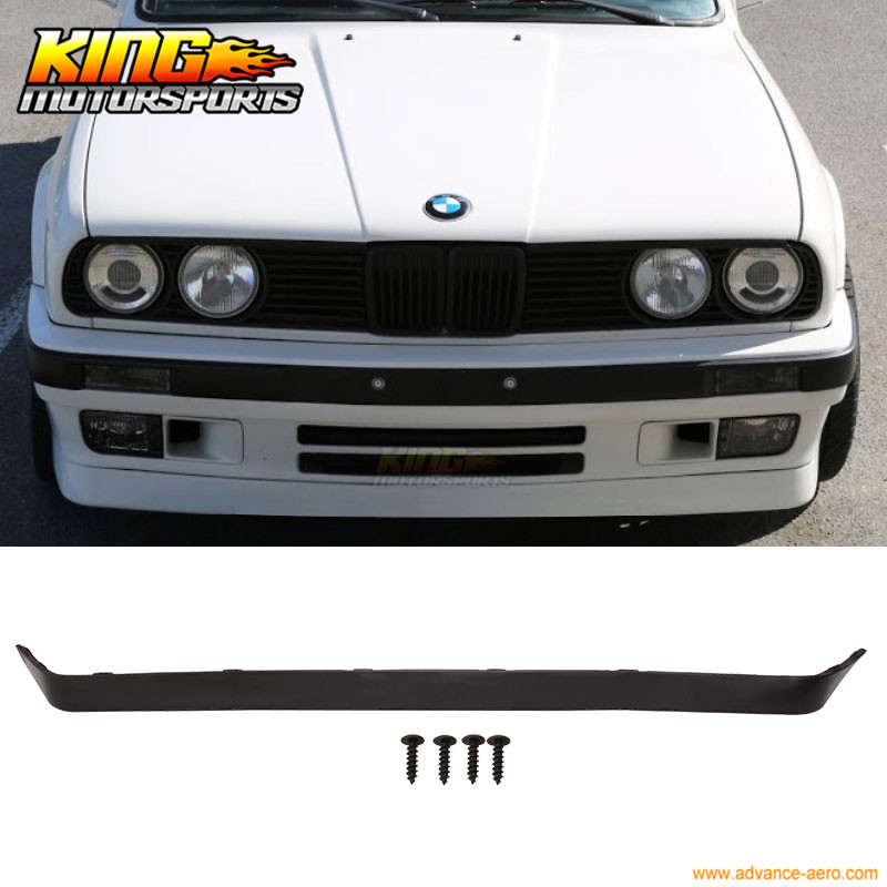 Fit For 1984 1985 1986 1987 1988 1989 1990 <font><b>1991</b></font> 1992 <font><b>BMW</b></font> <font><b>E30</b></font> 318 325 Lower Valance OE IS V2 M-Tech Front Bumper Lip Spoiler image