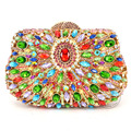 Luxury Diamond Gold Evening Clutch Bag Party Purse Pochette Candy Rhinestone day clutches  SC307
