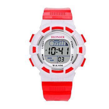 2018 Waterproof Children Boys Digital LED Sports Watch Kids Alarm Date Watch Gift Levert Dropship Box  D0323 waterproof cool mens boys led quartz alarm date sports wrist watch