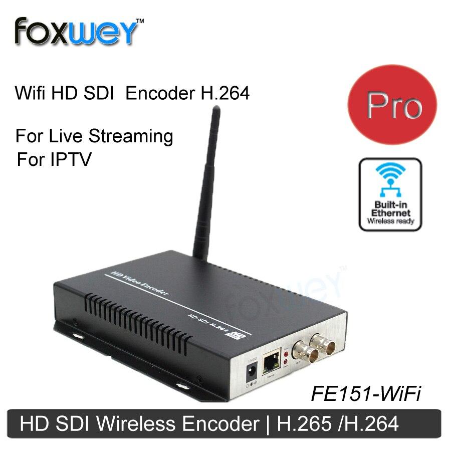 Беспроводной Wi-Fi кодирующее устройство HD SDI H264 H265 RTMP
