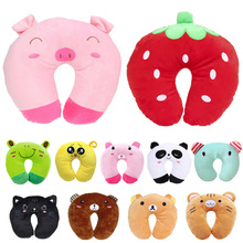 Baby Pillow Ligth Weight Comfortable Multi Color Cartoon U Shaped Neck Travel Pillow Automatic Neck Support