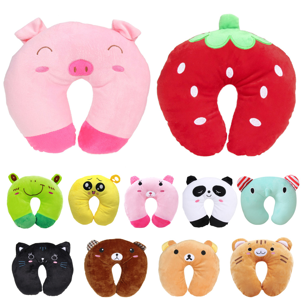 Baby Pillow Multi Color Cartoon U Shaped Neck Protection Pillow Comfortable Head Rest Travel Pillow