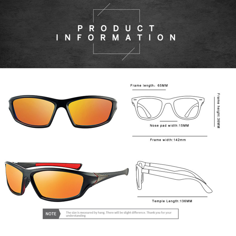 3f901a8ba8 Xinfeite Sunglasses Classic High Quality PC Frame HD Lens Polarized UV400  Outdoor Sports Sun Glasses For Men Women X431-in Sunglasses from Apparel ...