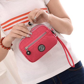Fashion Women's Purses Casual Nylon Zipper Female Carteira Ladies Wallet Female handbag Wristlet  Money Bag Clutches Coin Pocket
