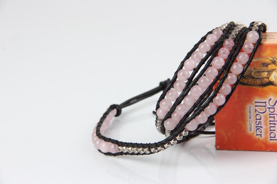 rose quartz stone bracelet (2)