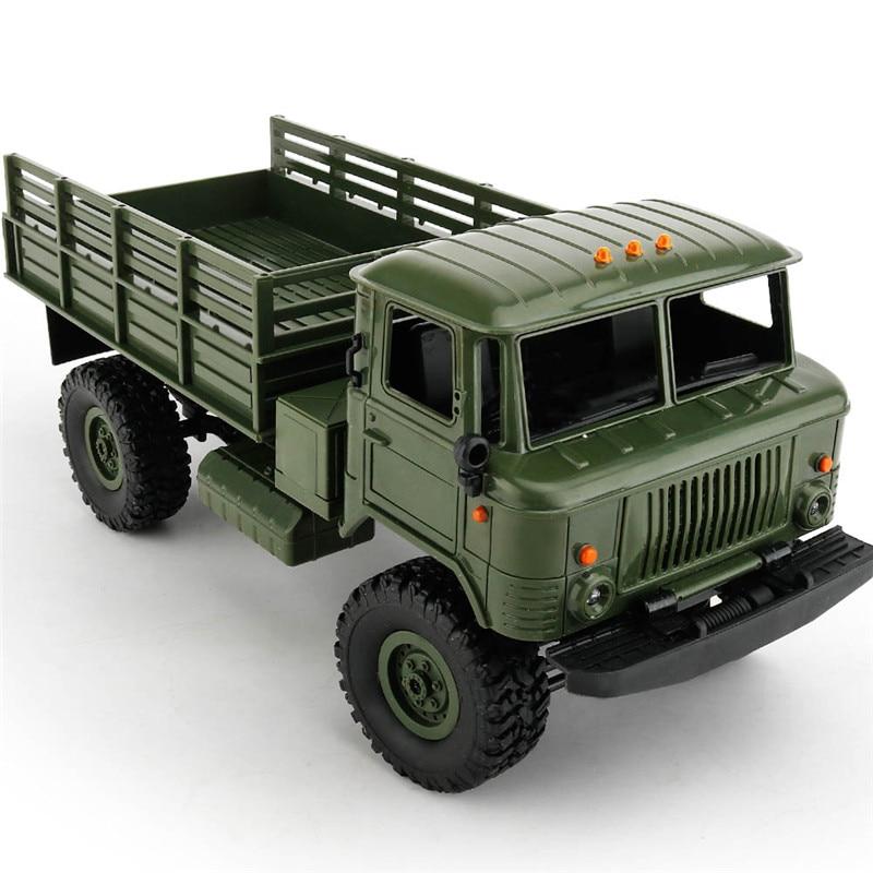 Mini 2.4g 4WD Off Road DO RC Carros de Corrida Off Road Do Carro Veículos RC RTR Brinquedos de Presente Para crianças DIY 1:16 RC Escalada Caminhão Militar - 4