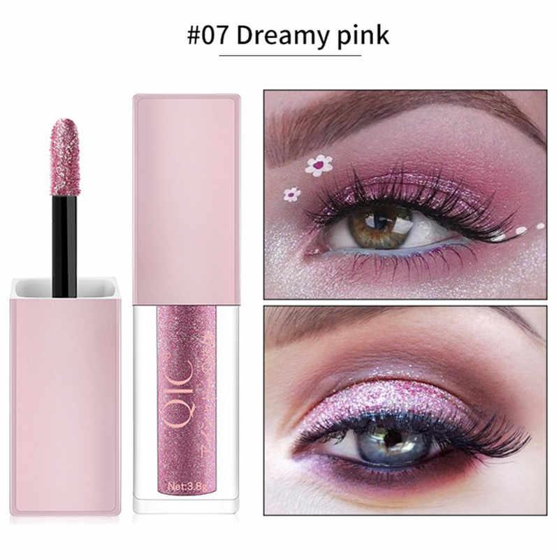 Marca olhos maquiagem brilho shimmer líquido diamante perolado shinning creme para sombra de olho delineador compõem brilho do forro dos olhos