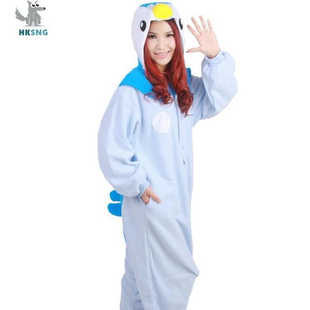 af5418e06 HKSNG Animal Adult Blue Penguin Kigurumi Custom Made Pajamas Cartoon ...
