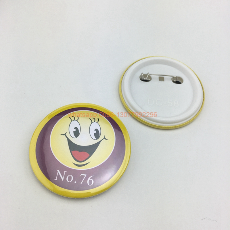 Image 4 - 20pcs custom your design badge tinplate badges custom button badge with safety pin, any logo and texts-in Badge Holder & Accessories from Office & School Supplies