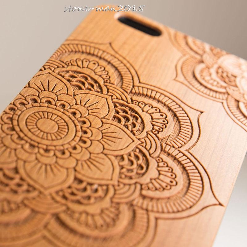 Цена за Karstadt Из Натурального Дерева, Бамбука Протектор Трудный Случай Крышки ПК Бампер Для iPhone 5 5S/For SE/Для Apple 6 7 6 S/6 6 S 7 плюс