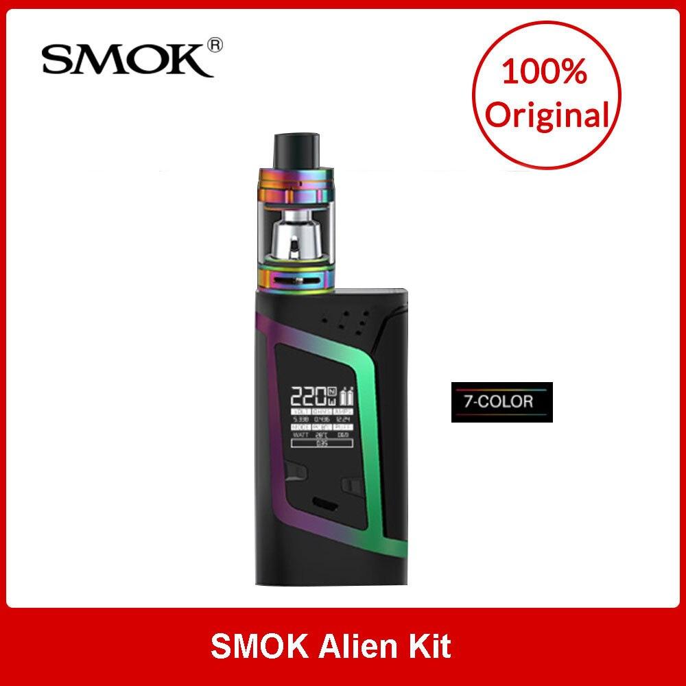 Originale SMOK Alien Kit con TFV8 Bambino Bestia Sub-Ohm Serbatoio 3 ml eliquid capacità 220 w di Uscita Smok alien Mod sigaretta elettronica
