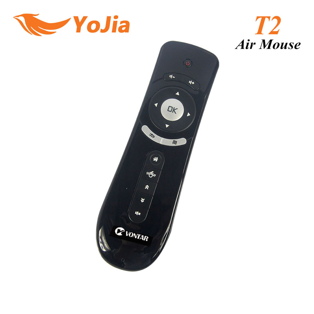 Gyroscope Mini Fly T2 Air Mouse 2.4G Wireless Keyboard Mouse For Android TV Box remote control 3D Sense Motion Media Player original t2 air mouse 2 4g wireless mini keyboard 3d sense motion remote controller t2 air mouse for android smart tv box pc