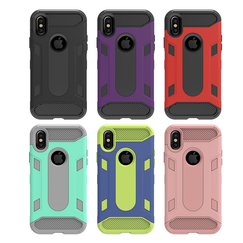Science Anti-knock Design Hard PC Soft TPU Back Cover For iphone X Case Fashion Hit Color Armor Phone Case For iphoneX Capa