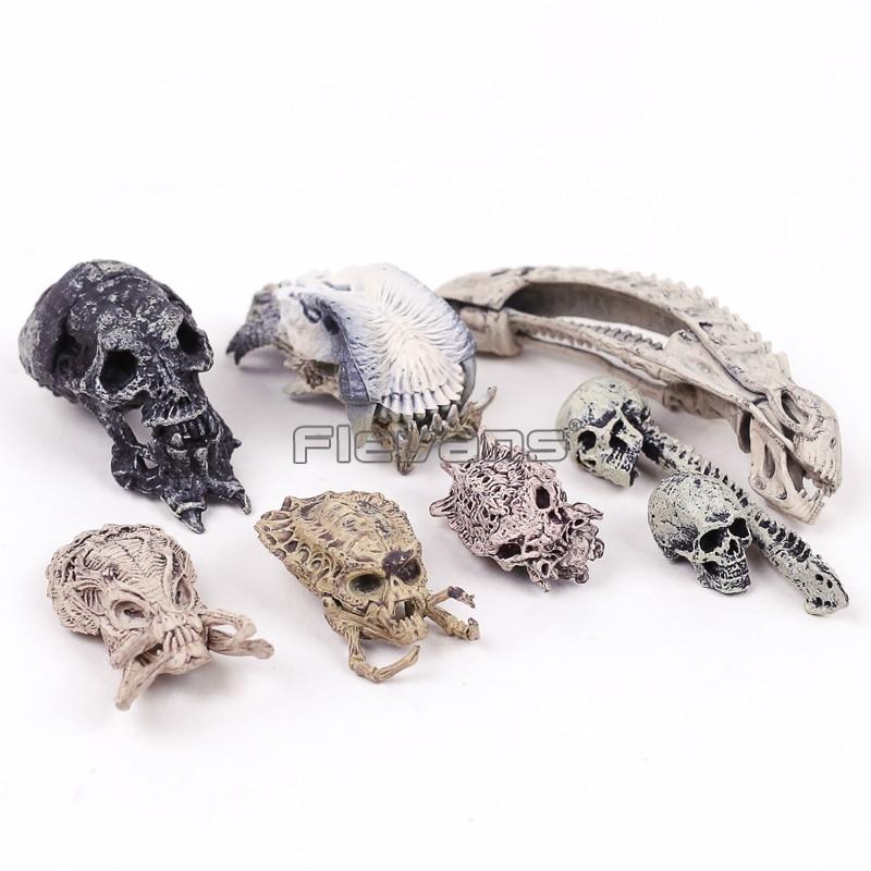 Considerate Avp Alien Vs Predator Head Skull Skeleton Mini Pvc Figures Collectible Model Toys 8pcs/set The Latest Fashion Toys & Hobbies