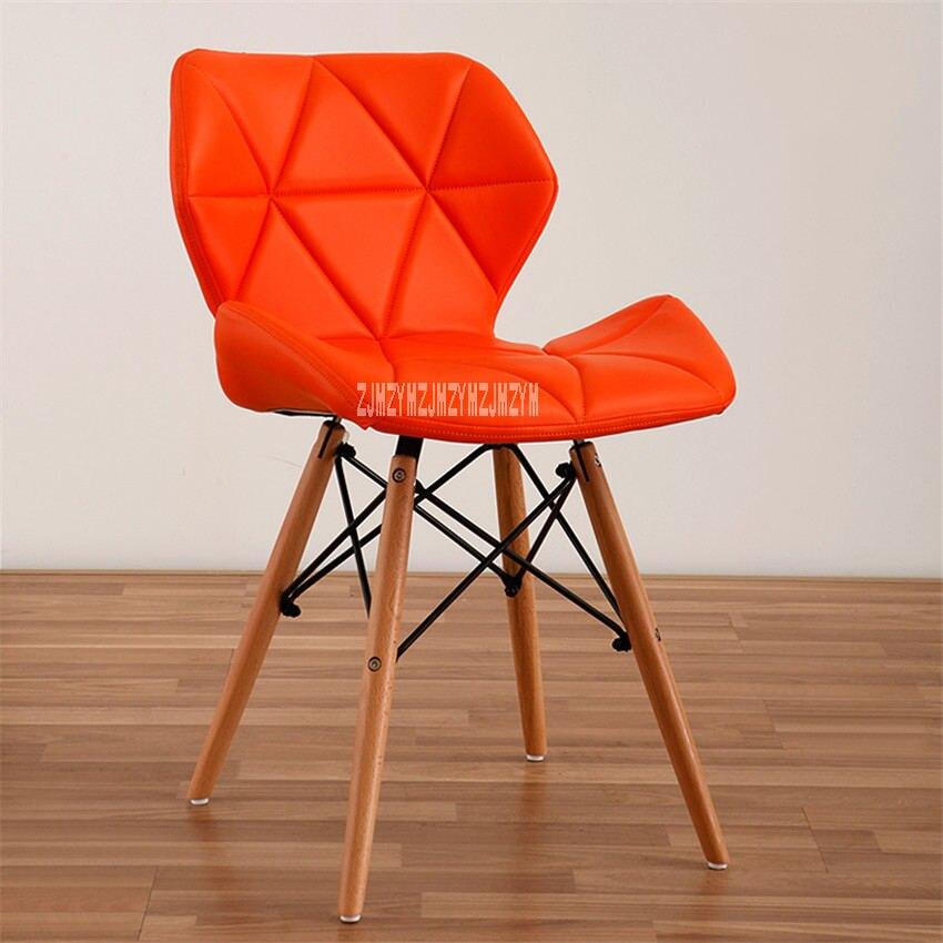 Деревянный стул для отдыха, современный креативный стул для гостиной, простой бытовой обеденный стул для кофе, офисное компьютерное кресло с спинкой - Цвет: C