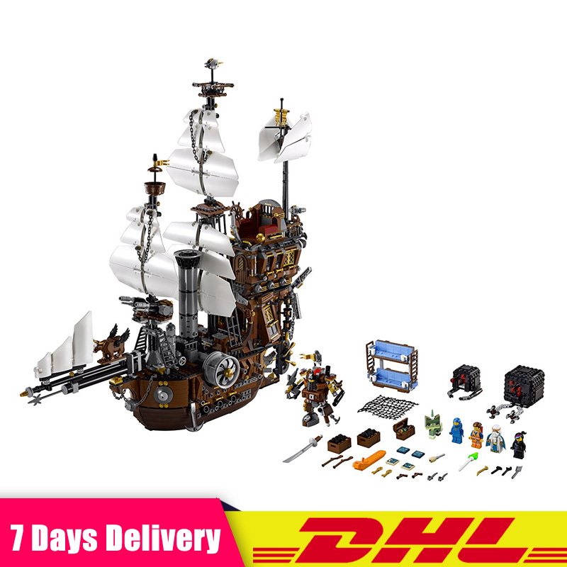 IN STOCK 2791PCS LEPIN 16002 Pirate Ship Metal Beard's Sea Cow Model Building Blocks Bricks Toys Compatible LegoINGlys 70810 16002 2791pcs pirate ship metal beard s sea cow set model building kits mini blocks compatible with 70810 toys lepin