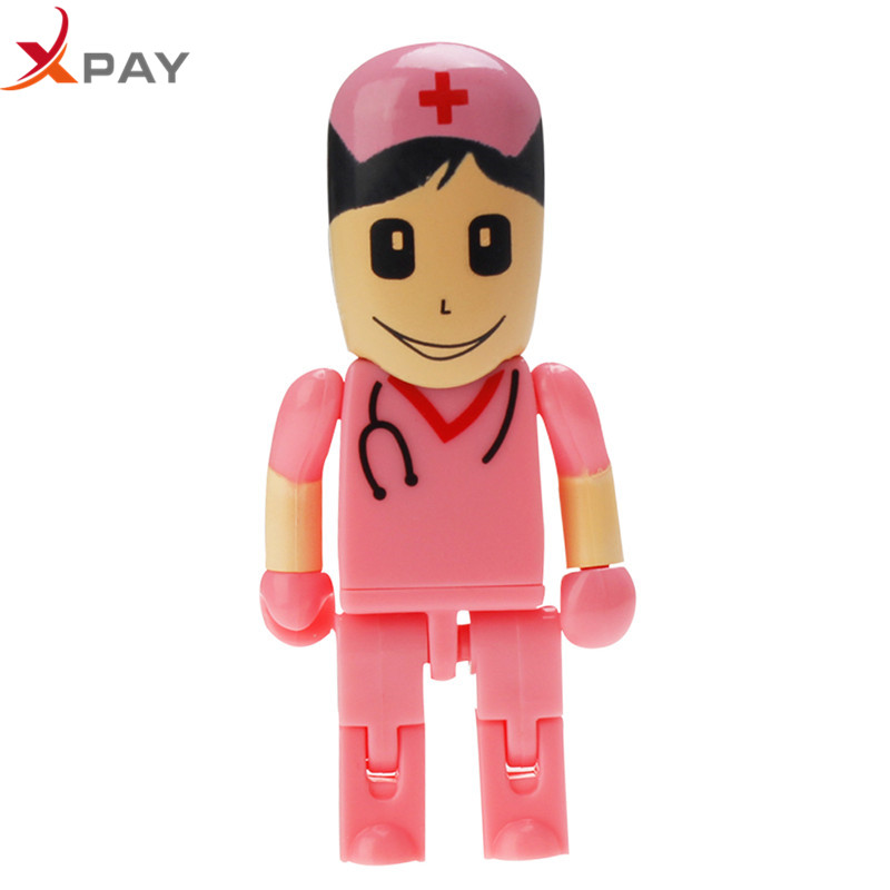 Image 4 - Crazy hot USB Flash Drive 32GB 128GB 16GB PenDrive cartoon Doctor 2.0 Nurse Flash Memory 4GB 64GB 8GB Pen Drive for gift u disk-in USB Flash Drives from Computer & Office