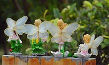 Miniatures Fairy Garden Ornament Decorations Flower Angels Resin Crafts Mini Garden Micro Landscapes Dollhouse Bonsai Figurine