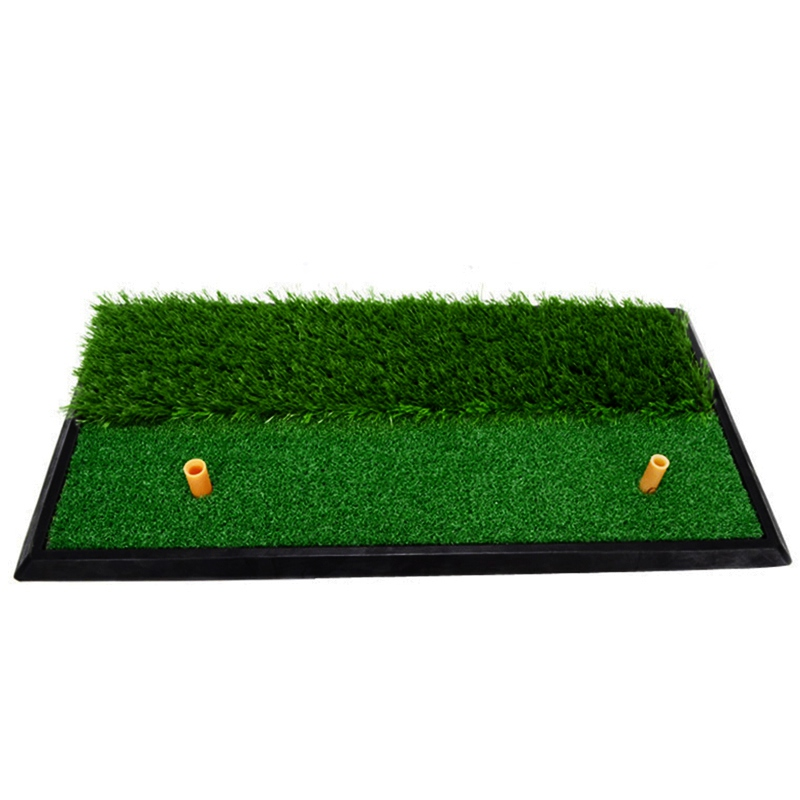Golf Practice Mat Artificial Turf Golf Swing Exercises Golf Practice Hitting Pad Indoor Outdoor Portable Golf Training Aids golf putting mat mini golf putting trainer with automatic ball return indoor artificial grass carpet