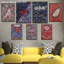 Posters and Prints Marvel DC Comics Superheros Batman Joker Avengers Superman Canvas Painting Wall Art Poster