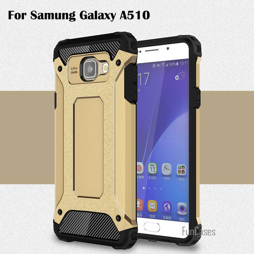Top Quality For Samsung Galaxy A510 2016 Case Armor TPU Silicone Back Cover PC Frame For Samsung A5 2016 Shockproof Phone Cases