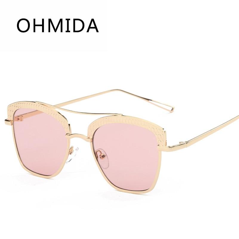 6db24d918c95 OHMIDA Fashion Sunglasses Women Goggle Mirror Lenses Sun Glasses Female  Male Luxury Brand Designer Vintage Oculos de sol Gafas