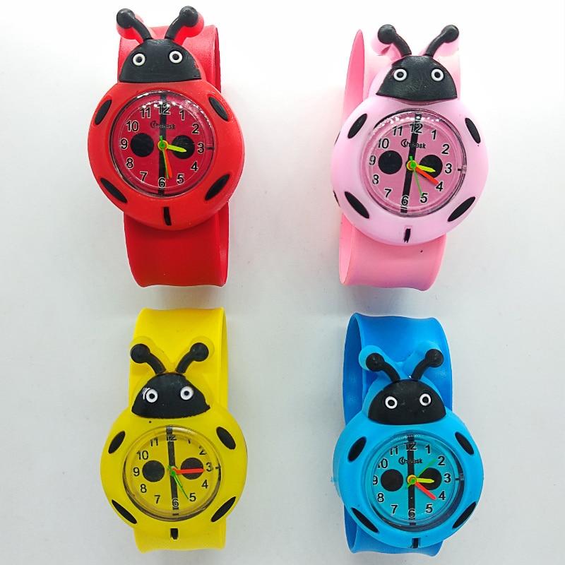 Cartoon Baby Watch Animal Ladybug Children Clock Kids Quartz Waterproof Student Wrist Watches For Kid Girls Boys Birthday Gift