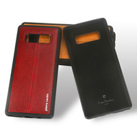 Pierre Cardin High Quality Vintage Genuine Leather Slim Phone Case For Samsung Galaxy Note 8 Sofe