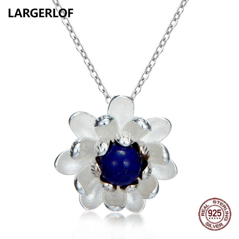 LARGERLOF Colliers Pendentifs Femmes 925 Sterling collier en argent À La Main bijoux fins pendentif en argent PD50008