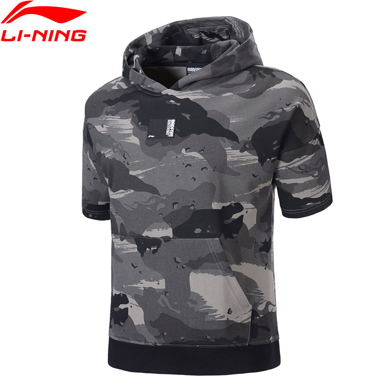 Li-Ning Men Basketball Series BAD FIVE Jersey Loose Fit 77%Cotton 23%Polyester LiNing Sports Hooded T-Shirts AAEP003 MTS3065Li-Ning Men Basketball Series BAD FIVE Jersey Loose Fit 77%Cotton 23%Polyester LiNing Sports Hooded T-Shirts AAEP003 MTS3065