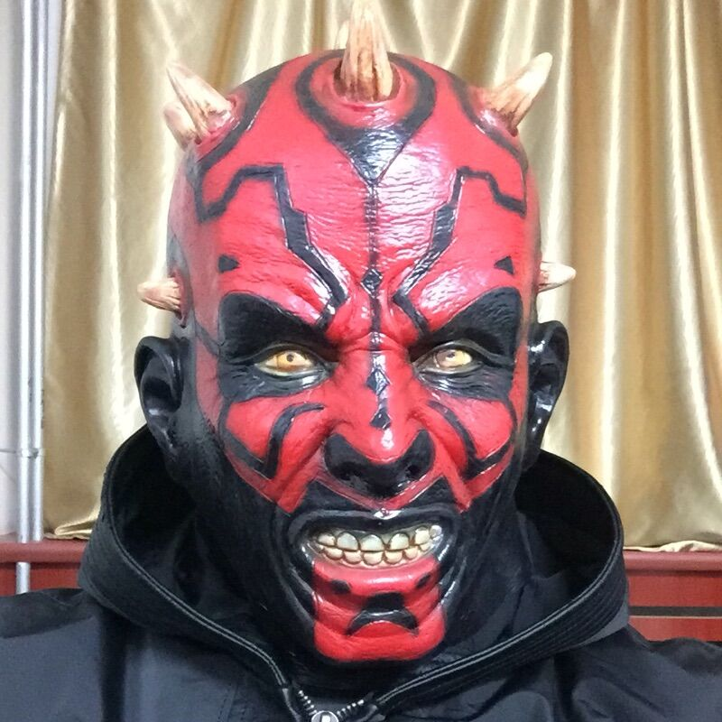 free shipping party cosplay new adult star wars deluxe darth maul latex halloween mask