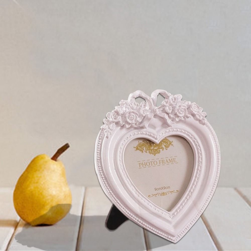 Giftgarden Pink Heart Decoration 3x3 Picture Frame Wedding Photo ...